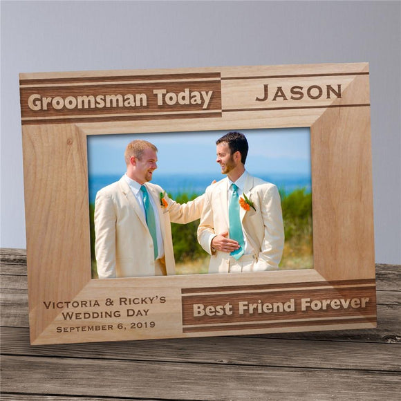 Personalized Groomsman Picture Frame-Personalized Gifts