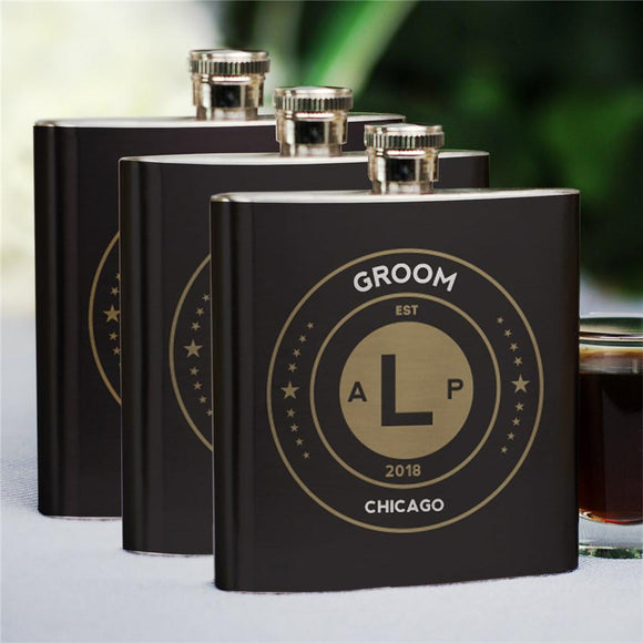 Personalized Groomsmen Flask-Personalized Gifts