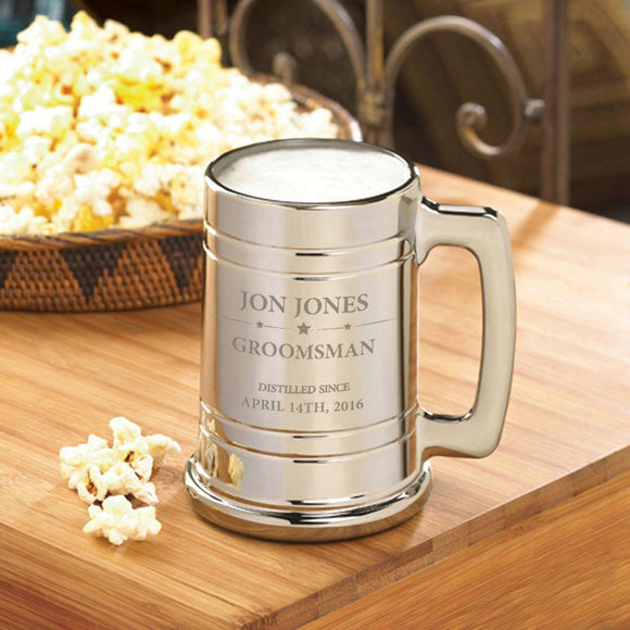 Personalized Groomsmen Metallic Mug-Personalized Gifts