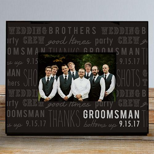 Personalized Groomsmen Printed Frame-Personalized Gifts