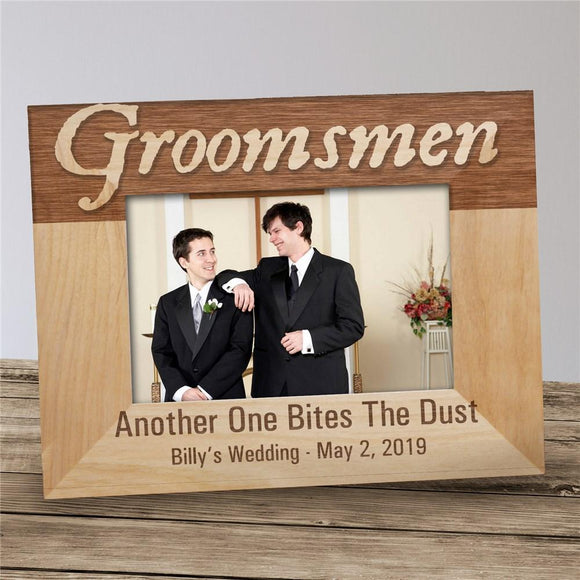 Personalized Groomsmen Wood Picture Frame-Personalized Gifts