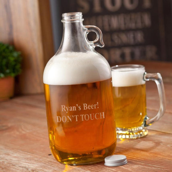 Personalized Growler - Beer - Glass - 64 oz.-Personalized Gifts