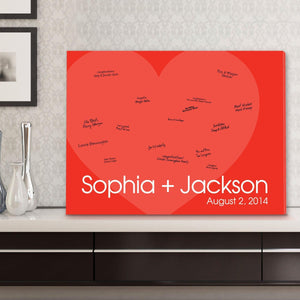 Personalized Guestbook Canvas - I Love You!-Personalized Gifts