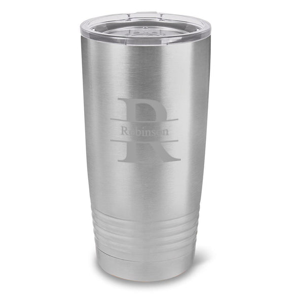 Personalized Húsavík 20 oz. Stainless Silver Double Wall Insulated Tumbler - All-Personalized Gifts