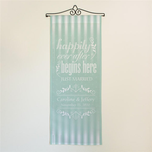 Personalized Happily Ever After Wall Banner-Personalized Gifts