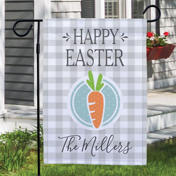Personalized Happy Easter Carrot Garden Flag-Personalized Gifts