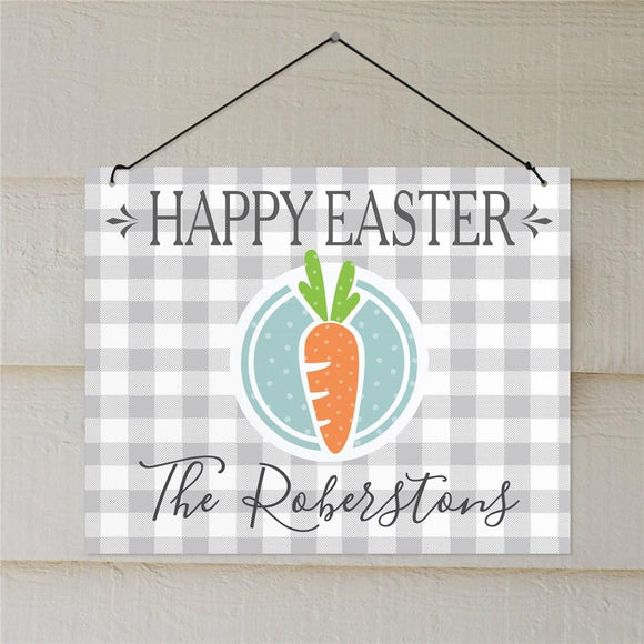 Personalized Happy Easter Carrot Wall Sign-Personalized Gifts