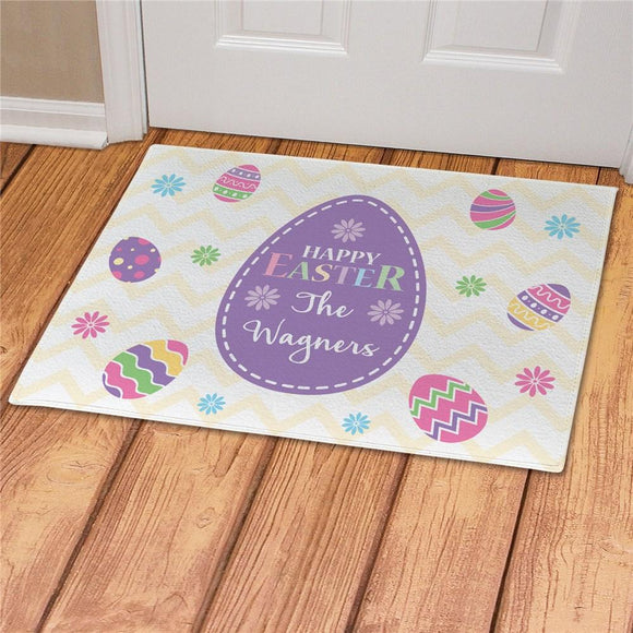 Personalized Happy Easter Doormat-Personalized Gifts