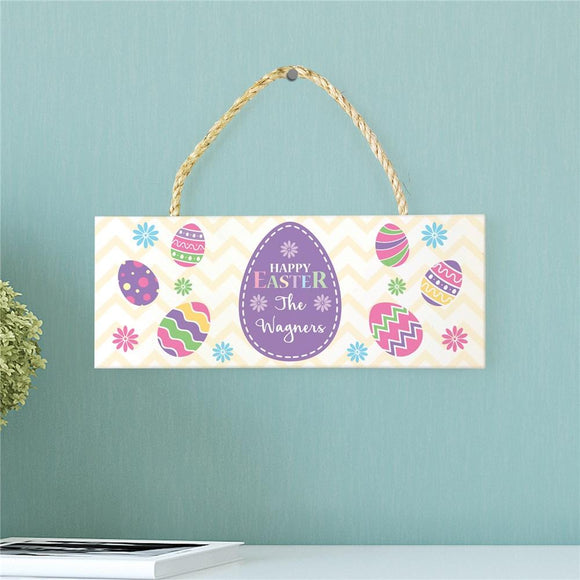 Personalized Happy Easter Rope Hanging Sign-Personalized Gifts