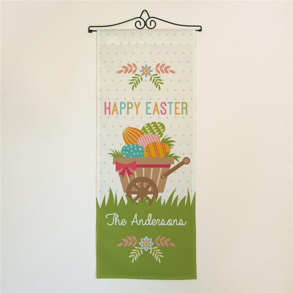 Personalized Happy Easter Wheelbarrow Wall Hanging-Personalized Gifts