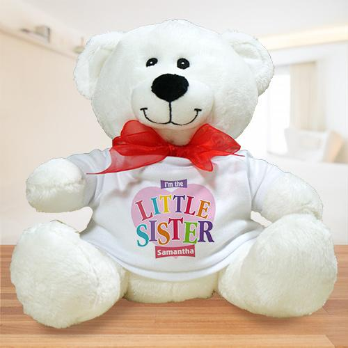 Personalized Heart Plush Big Sister Teddy Bear-Personalized Gifts