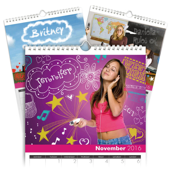 Personalized High School Cool Calendar-Personalized Gifts