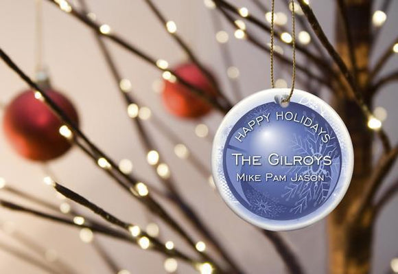 Personalized Holiday Ceramic Ornament-Personalized Gifts