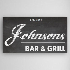 Personalized Home Bar Canvas Sign-Personalized Gifts