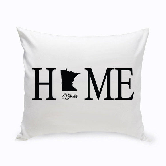 Personalized Home State Throw Pillow-Personalized Gifts