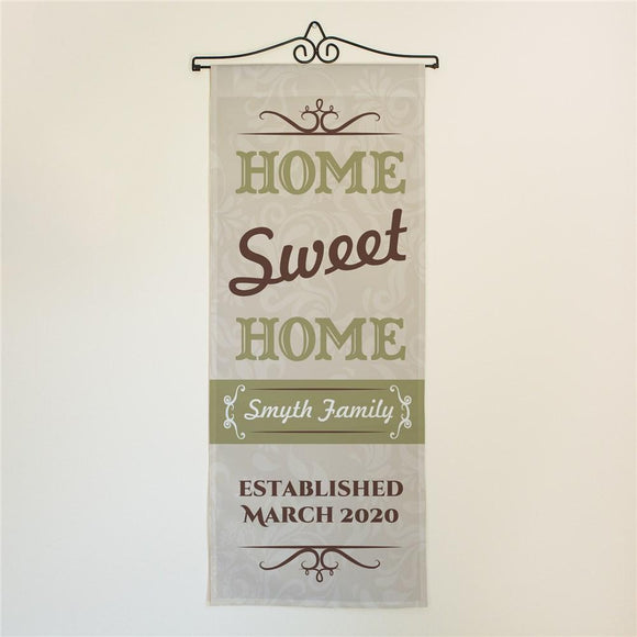 Personalized Home Sweet Home Door Banner-Personalized Gifts