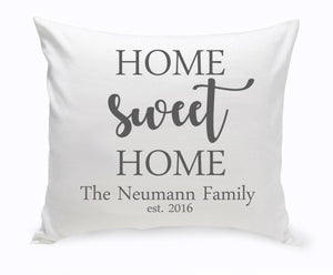 Personalized Home Sweet Home Throw Pillow-Personalized Gifts