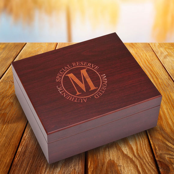 Personalized Humidor - Rosewood - Engraved - Groomsmen Gifts-Personalized Gifts