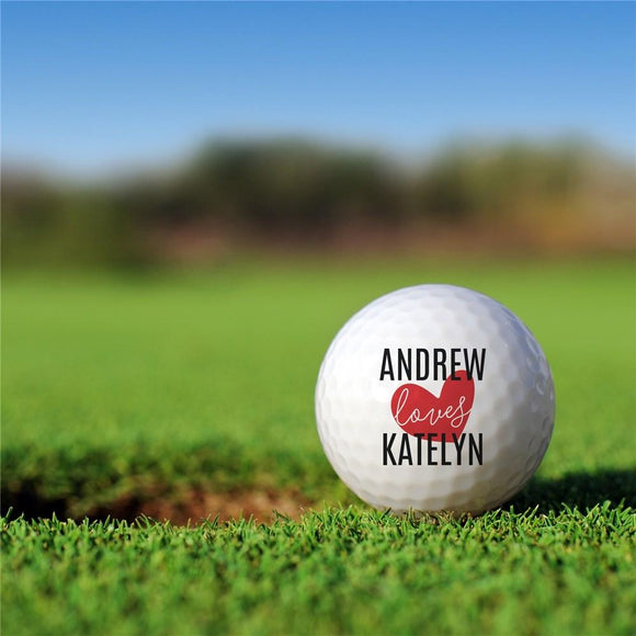 Personalized I Love Golf Ball Set-Personalized Gifts