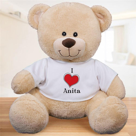 Personalized I Love Teddy Bear-Personalized Gifts