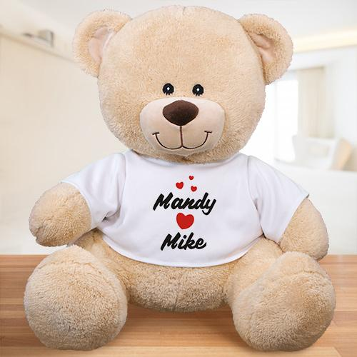 Personalized I Love You Teddy Bear-Personalized Gifts