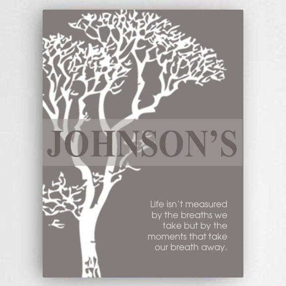 Personalized Inspirational Canvas Sign-Personalized Gifts