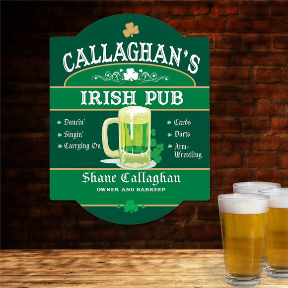Personalized Irish Pub Sign-Personalized Gifts