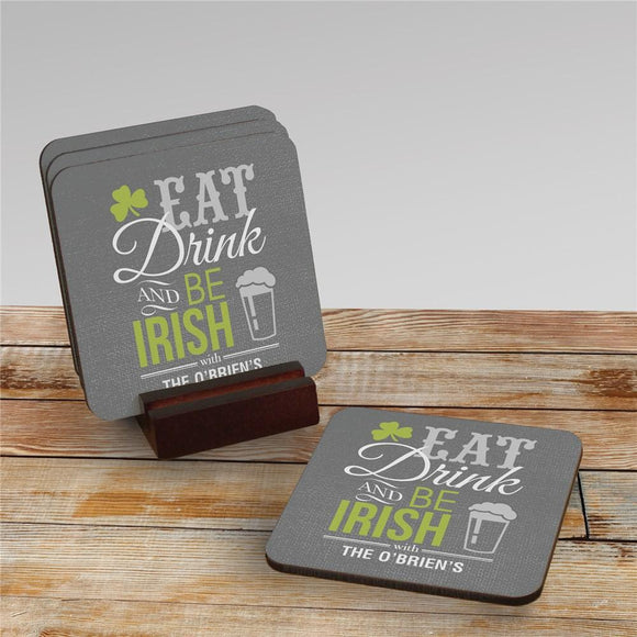 Personalized Irish Welcome Coaster Set-Personalized Gifts