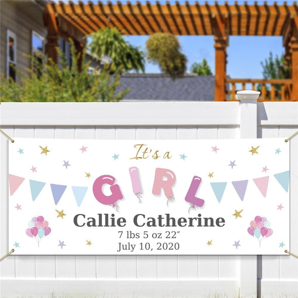 Personalized It's A Girl Banner-Personalized Gifts