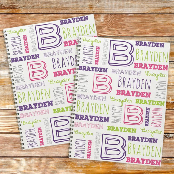 Personalized Kid's Name Notebook Set-Personalized Gifts
