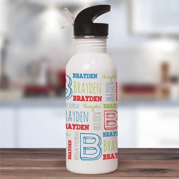 Personalized Kid's Name Water Bottle-Personalized Gifts