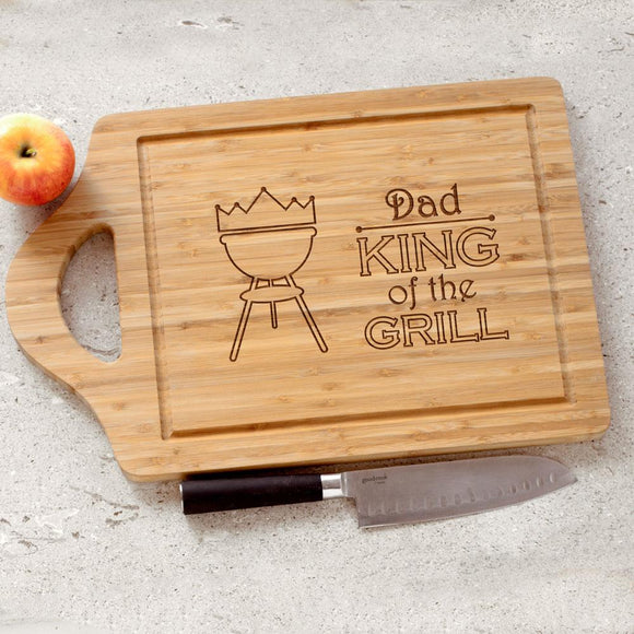 Personalized King of the Grill Cutting Board-Personalized Gifts