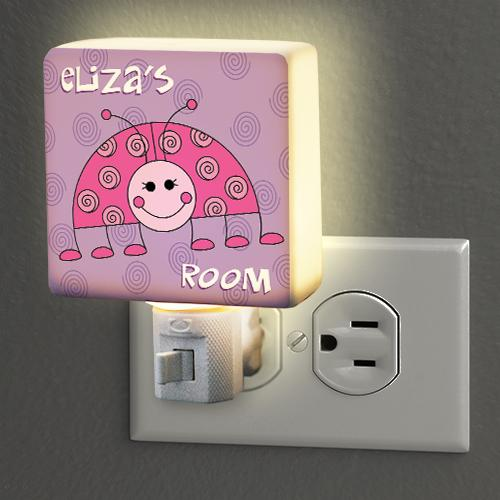Personalized Lady Bug Night Light-Personalized Gifts