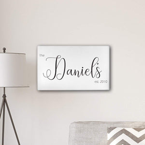 "Personalized Last Name Modern Farmhouse 14"" x 24"" Canvas-Personalized Gifts"