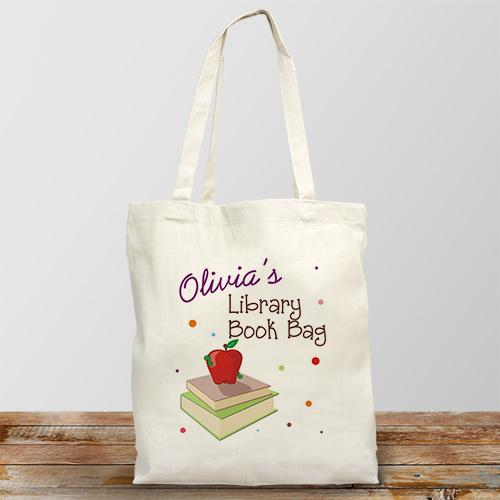 Personalized Library Book Tote Bag-Personalized Gifts