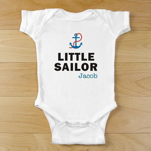 Personalized Little Sailor Infant Body Suit-Personalized Gifts