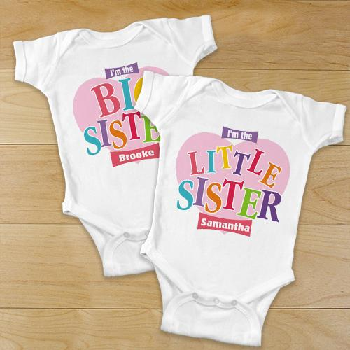 Personalized Little Sister Infant Apparel-Personalized Gifts