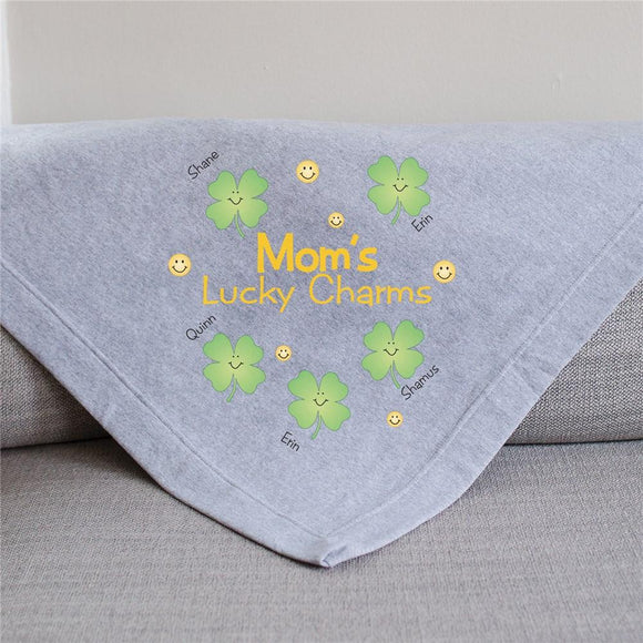 Personalized Lucky Charms Fleece Blanket-Personalized Gifts