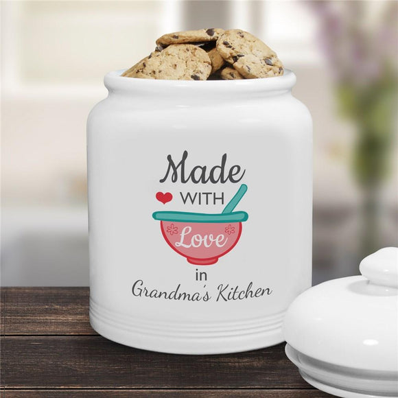 Personalized Made With Love Cookie Jar-Personalized Gifts