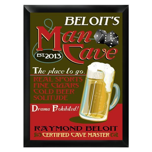 Personalized Man-Cave Bar Sign-Personalized Gifts