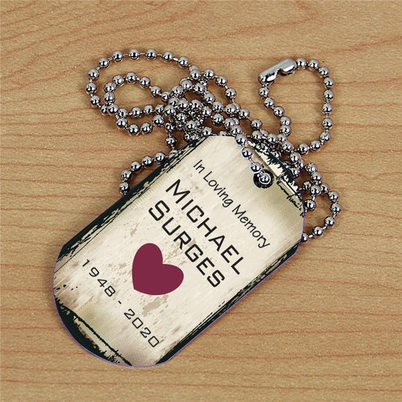 Personalized Memorial Dog Tag-Personalized Gifts