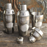 Personalized Mixologist Cocktail Shaker w/Pewter Medallion-Personalized Gifts