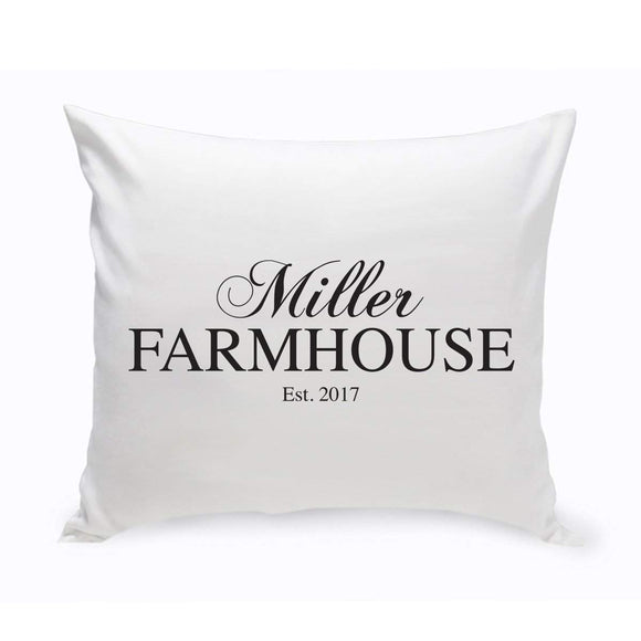 Personalized Modern Farmhouse Throw Pillow-Personalized Gifts