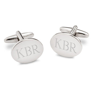Personalized Modern Oval Cufflinks-Personalized Gifts