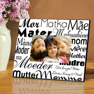 Personalized Mom in Translation Frame - Black/White-Personalized Gifts