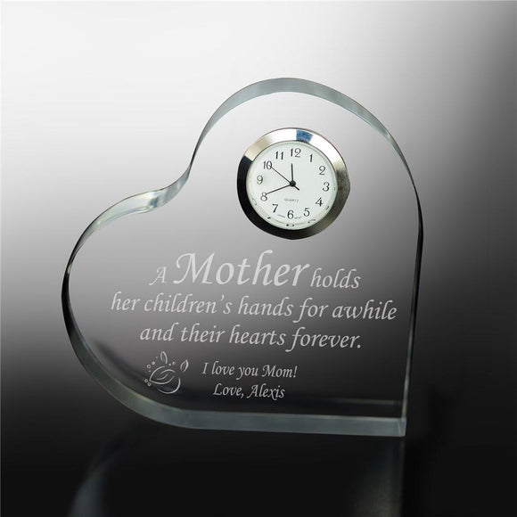 Personalized Mother Keepsake Clock-Personalized Gifts
