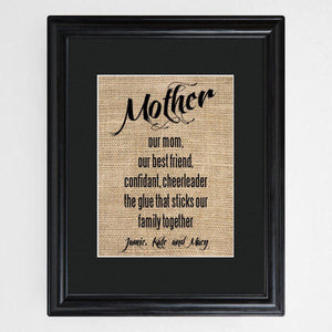 Personalized Mother's Framed Print-Personalized Gifts