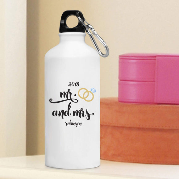 Personalized Mr. & Mrs. Water Bottle-Personalized Gifts