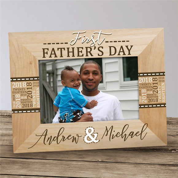 Personalized My First Fathers Day Picture Frame-Personalized Gifts