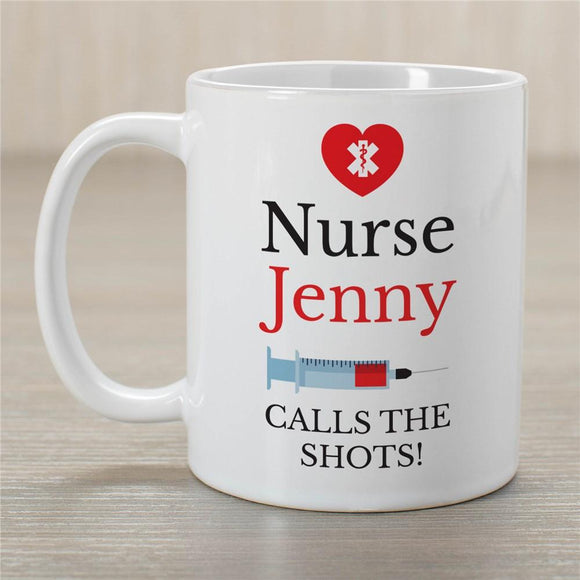 Personalized Nurse Calls The Shots Mug-Personalized Gifts